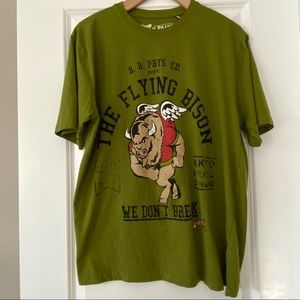AKOO The Flying Bison olive green tee shirt